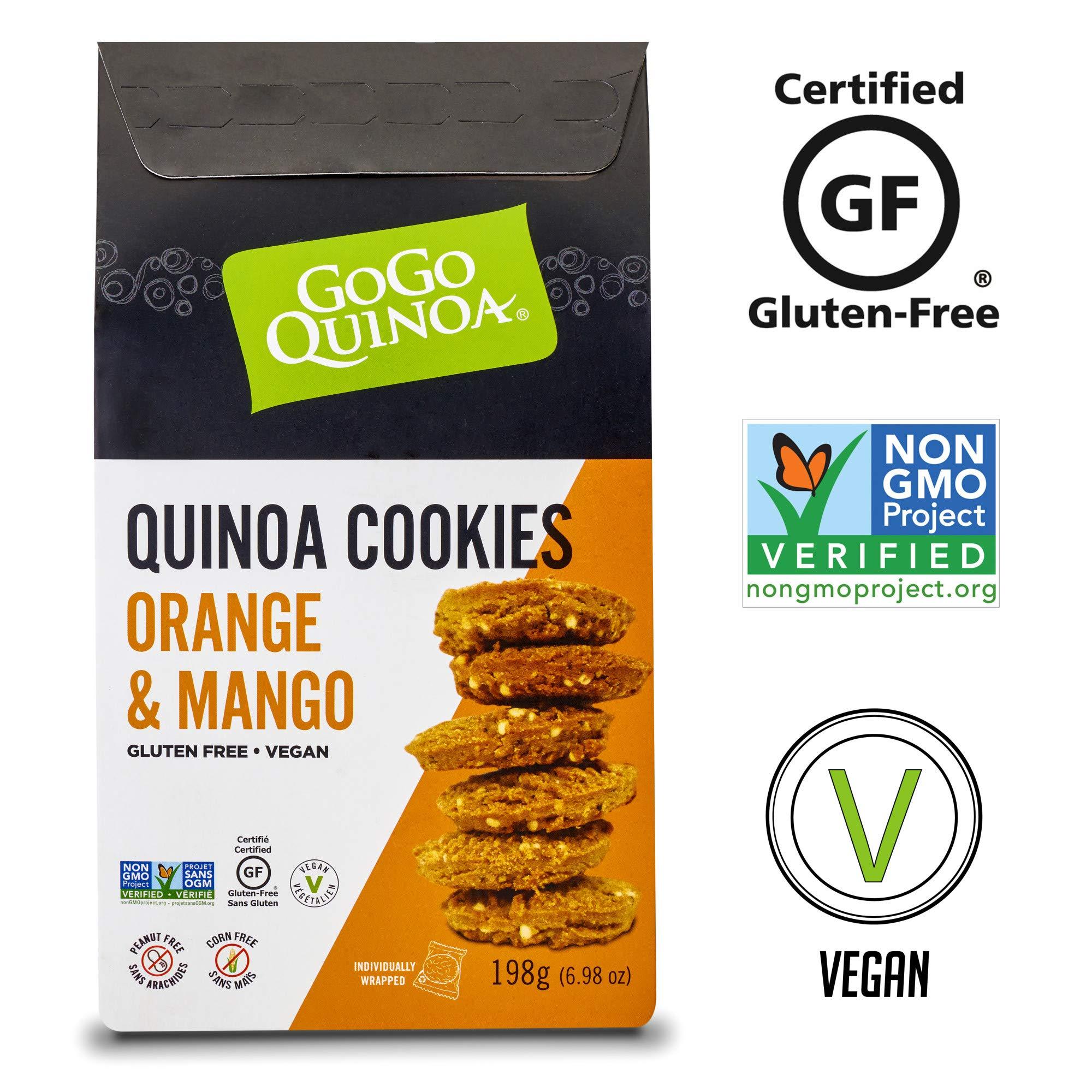 GoGo Quinoa Wheat, Corn and Egg Free Orange & Mango Essence Cookies, With Exotic Aroma and Fruity Taste Notes 13.96 oz