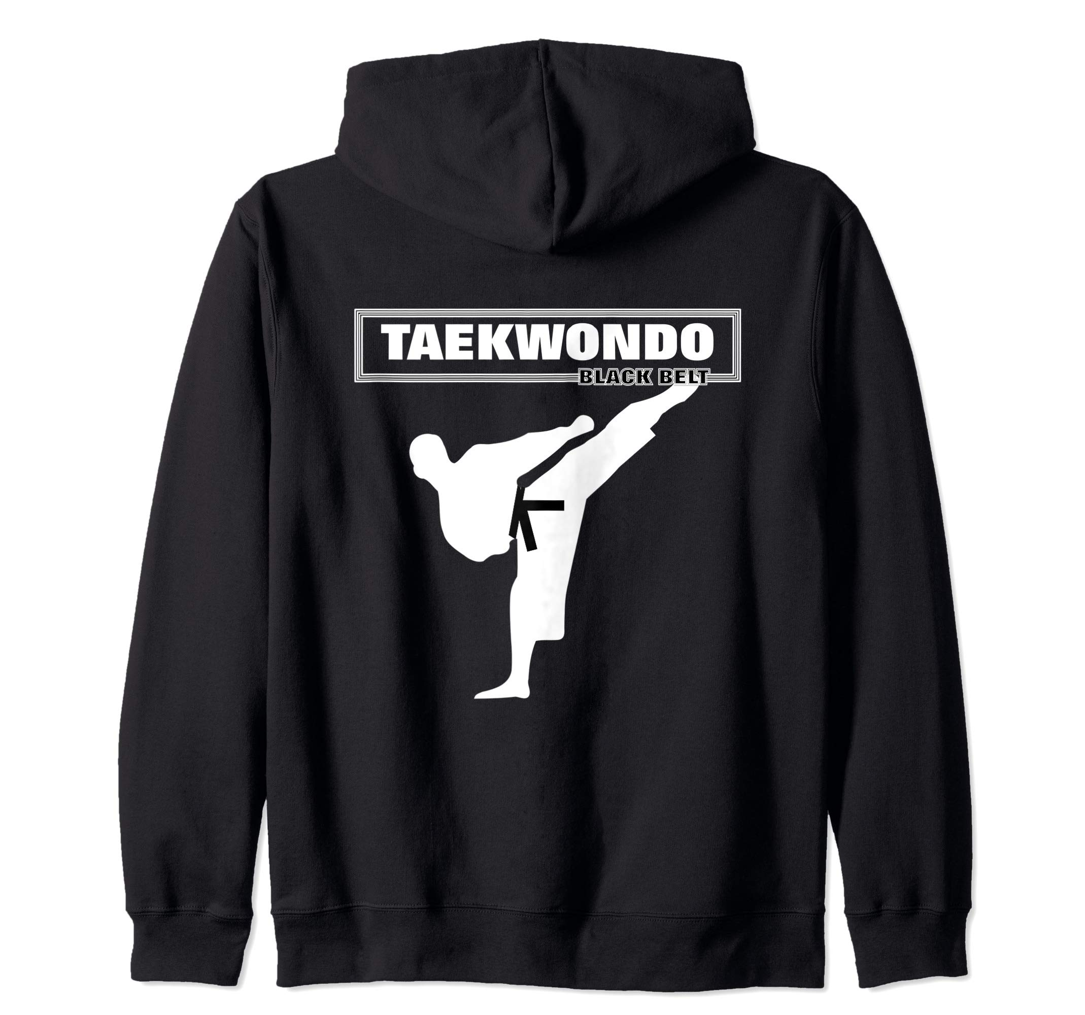 Taekwondo Martial Arts Black Belt  Zip Hoodie by Hasharon Taekwondo Martial Arts
