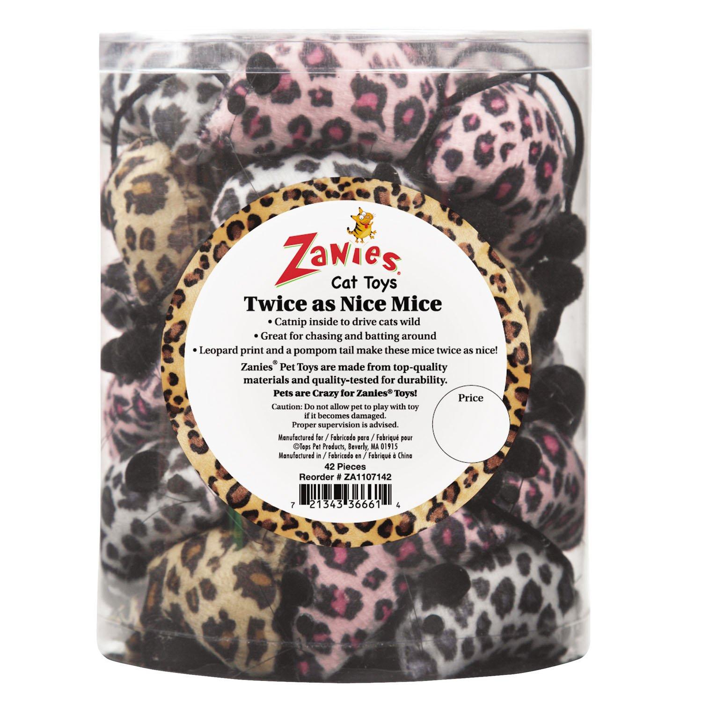 Zanies ZA11071 42 42-Piece Twice as Nice Mice Canister Set Toy