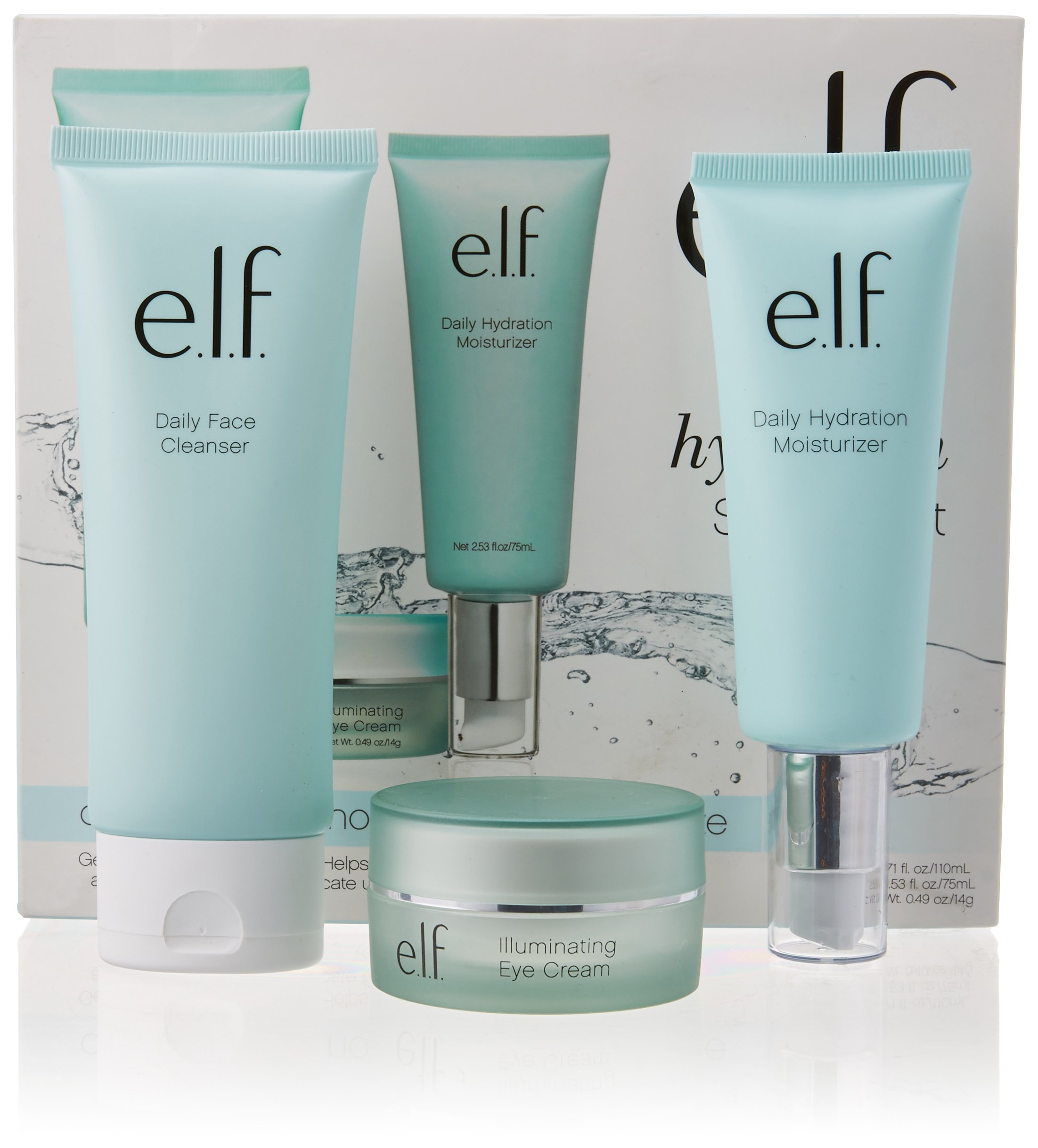 e.l.f. Cosmetics Skincare Starter Kit, Cleanse, Nourish and Moisturize Skin with Three Hydrating Products by e.l.f. Cosmetics