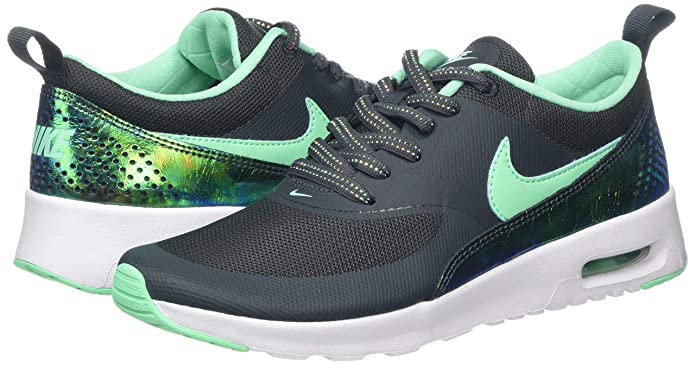 Air Max Thea Se Gs Green Glow Running Shoes BoysGirls