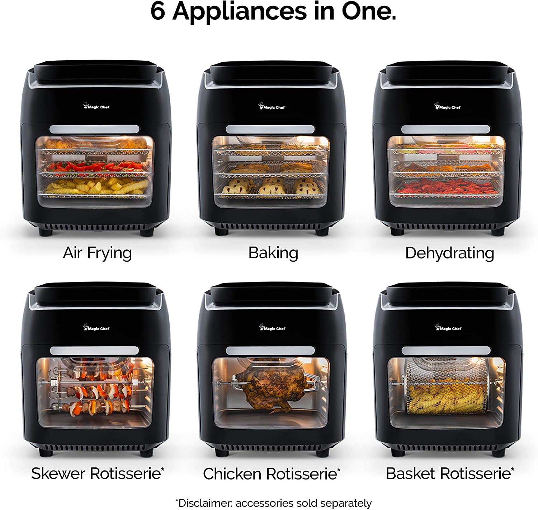 Magic Chef Air Fryer Oven 10.5 Quart Digital Display Airfryer