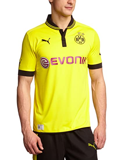 on sale b3b75 d68a9 PUMA 2012-13 Borussia Dortmund Home Football Soccer T-Shirt Jersey