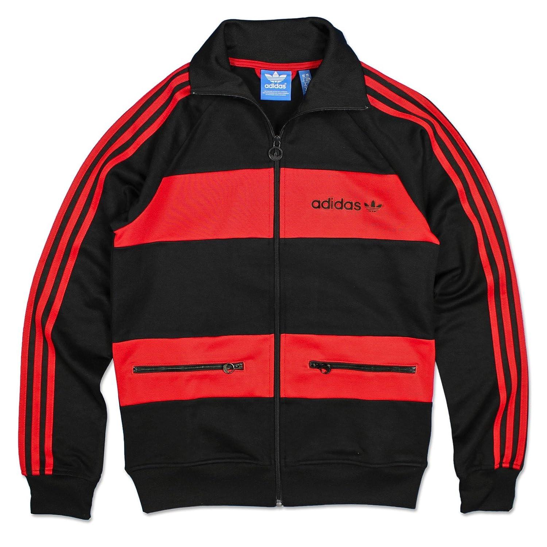 adidas - Chaqueta de chándal, diseño de Beckenbauer TT Blanco/Rojo ...