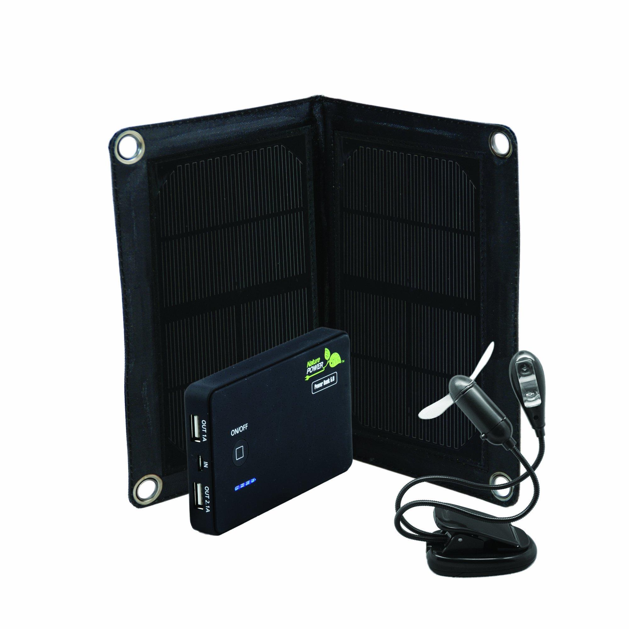 Nature Power 59801 Power Bank 5 Deluxe Portable Solar Power Kit