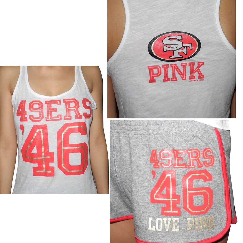 f5f4ad0f 2 Pcs Set: Pink Victoria's Secret Women NFL San Francisco 49ers # 46 ...