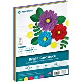 Printworks Bright Cardstock, 65 lb, 4 Assorted Bright Colors, FSC Certified, Perfect for School and Craft Projects, 50 Sheets