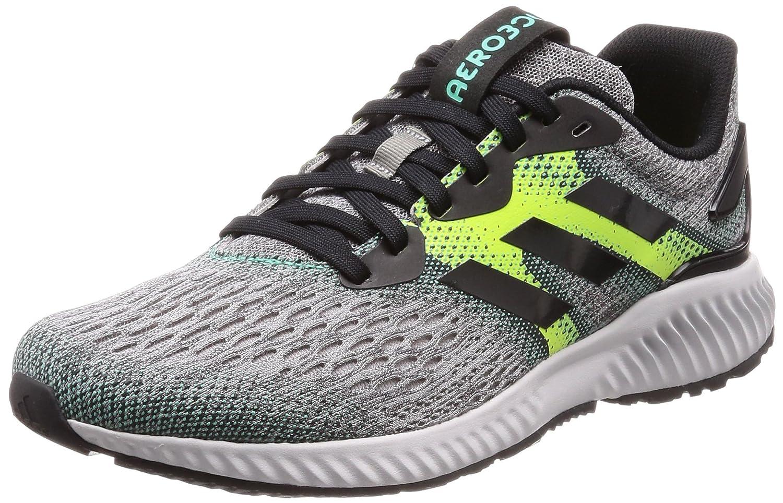 Adidas Aerobounce M, Zapatillas de Running para Hombre 44 EU|Negro (Core Black/Solar Slime/Hi-res Green S18 Core Black/Solar Slime/Hi-res Green S18)