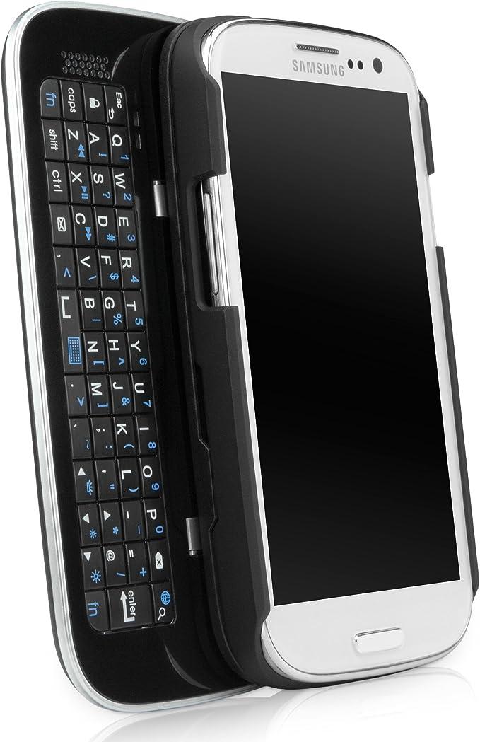 BoxWave Samsung Galaxy S3 teclado Buddy funda – retroiluminada Edition – Carcasa con teclado deslizante Bluetooth inalámbrico QWERTY integrado y ...