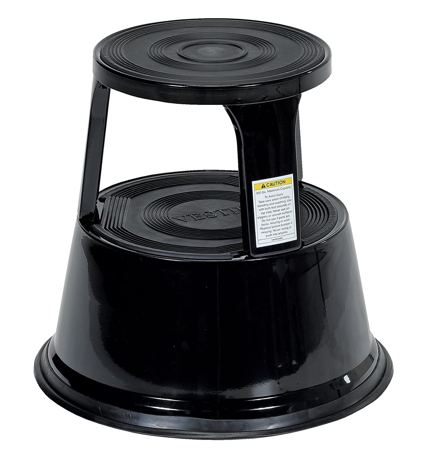 Wondrous Vestil Step 17 Bk Steel Rolling Step Stool With Powder Coat Finish 17 1 8 Top Step Height 500 Lbs Capacity Black Alphanode Cool Chair Designs And Ideas Alphanodeonline