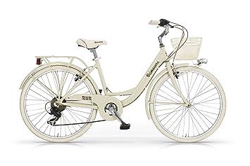 MBM Primavera - Bicicleta de Paseo para Mujer de 6 velocidades, Cuadro de Aluminio 606