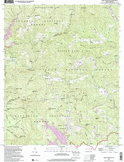 lake toxaway nc map Amazon Com Yellowmaps Lake Toxaway Nc Topo Map 1 24000 Scale 7 5 X 7 5 Minute Historical 1997 Updated 2001 26 7 X 21 8 In Paper Sports Outdoors lake toxaway nc map