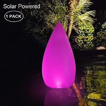 Luz Solar de Jardín,Cónica LED Exterior Solar IP68 Impermeable ...
