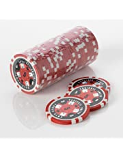 15G Poker Chips - Design - Squirrel Poker Poker Club 15G Poker Chips Colour = Red, Value = $5