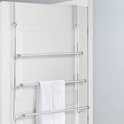 Super Mygift Over The Door 3 Tier Bathroom Towel Bar Rack With Chrome Plated Finish Download Free Architecture Designs Rallybritishbridgeorg
