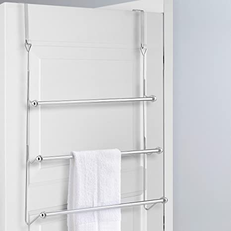 Amazon.com: Perchero para puerta 3 Tier Baño Toalla Bar Rack ...
