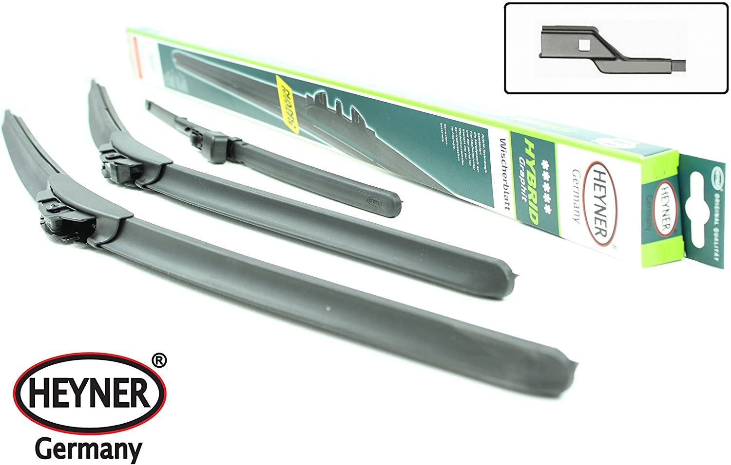 Skda Fabia Hatchback Models 2007 To 2013 Heyner Germany Aeroflat Hybrid Windscreen Wiper Blades 212112 Front Replacement Set HH2121TL12HRF