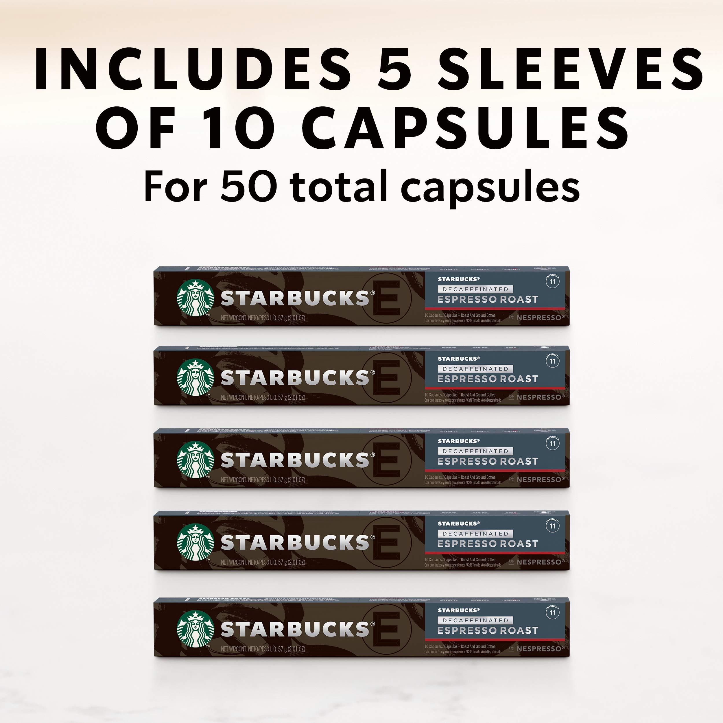 Starbucks by Nespresso, Decaf Espresso Dark Roast (50-count single serve capsules, compatible with Nespresso Original Line System) by Starbucks for Nespresso (Image #7)