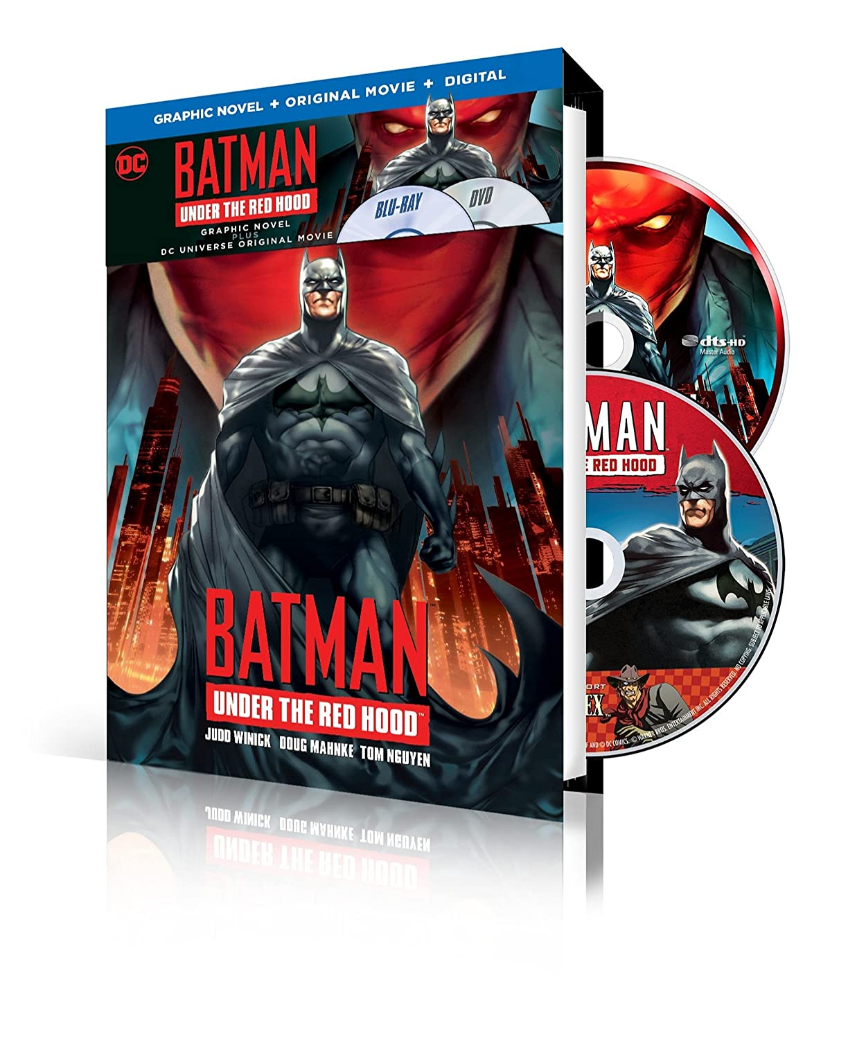 Amazon Com Batman Under The Red Hood With Batman Under The Red Hood Graphic Novel Blu Ray Dvd Uv Various Various Cine Y Tv