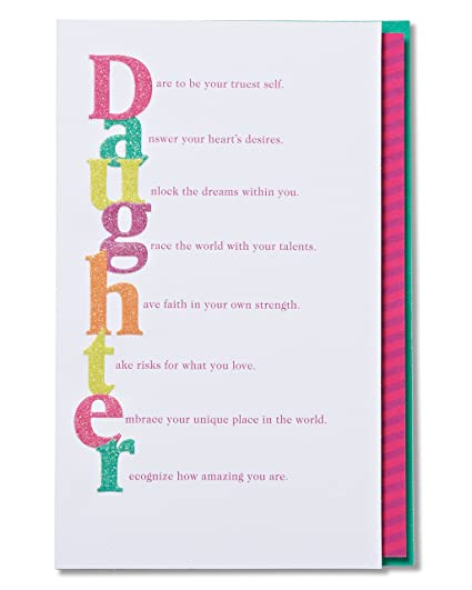 Amazon American Greetings Colorful Birthday Card For Daughter