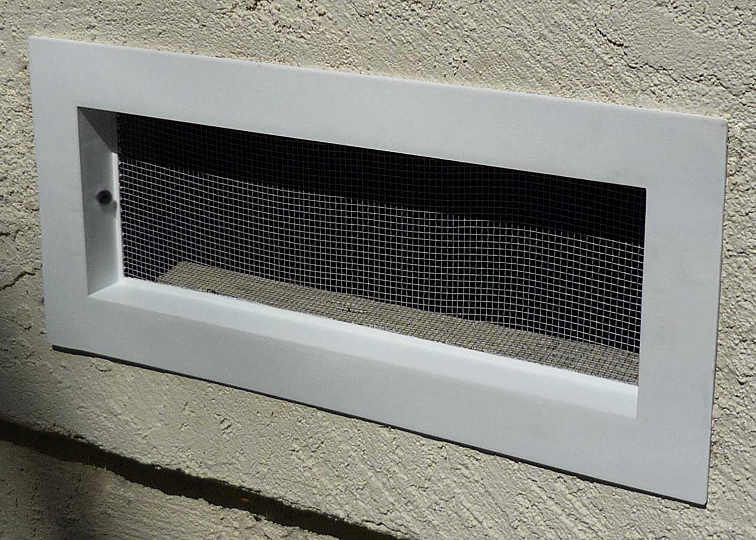 Crawl space vent covers these air intakes at the windows for Exterior vent covers