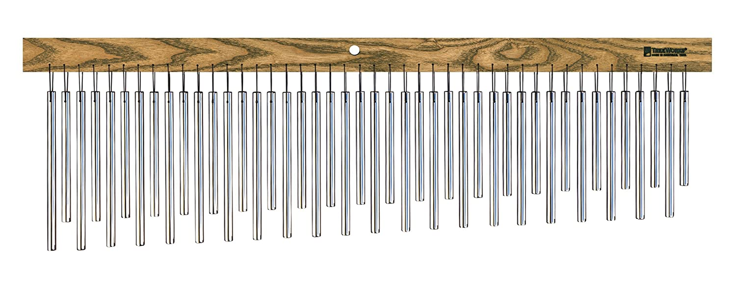 TreeWorks Chimes TRE555 Made in USA DreamTree Extra Large Single Row Bar Chime with Chorus Effect Tuning (VIDEO)