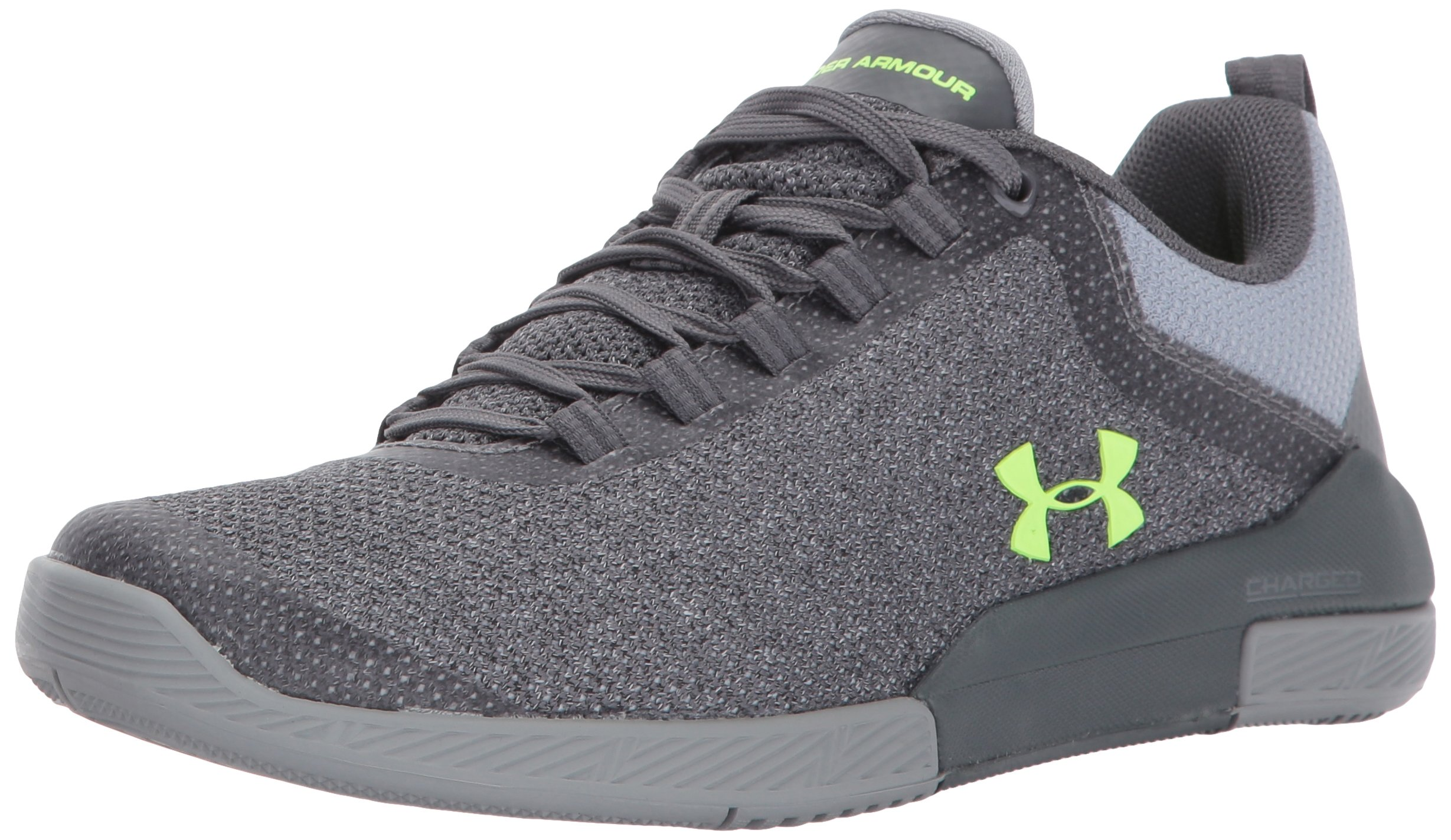 Under Armour Women's Charged Legend Hypersplice, Rhino Gray/Steel/Quirky Lime, 11 B(M) US