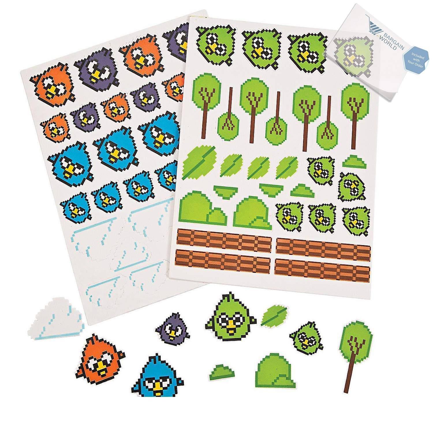 Bargain World Crazy Bird Foam Shapes (With Sticky Notes) by Bargain World (Image #1)