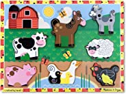 Melissa & Doug Farm Chunky Puzzle (Preschool, Chunky Wooden Pieces, Full-Color Pictures, 8 Pieces, Great Gift for Girls and