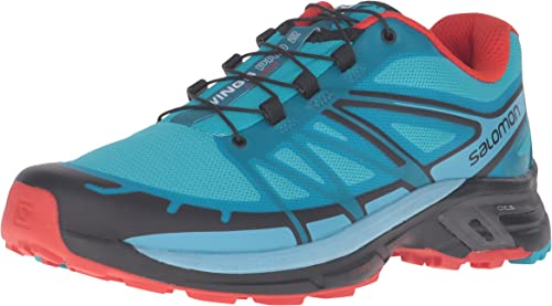 Salomon L39030500, Zapatillas de Trail Running para Mujer, Azul (Blue Jay / Fog Blue / Lava Orange), 42 2/3 EU: Amazon.es: Zapatos y complementos