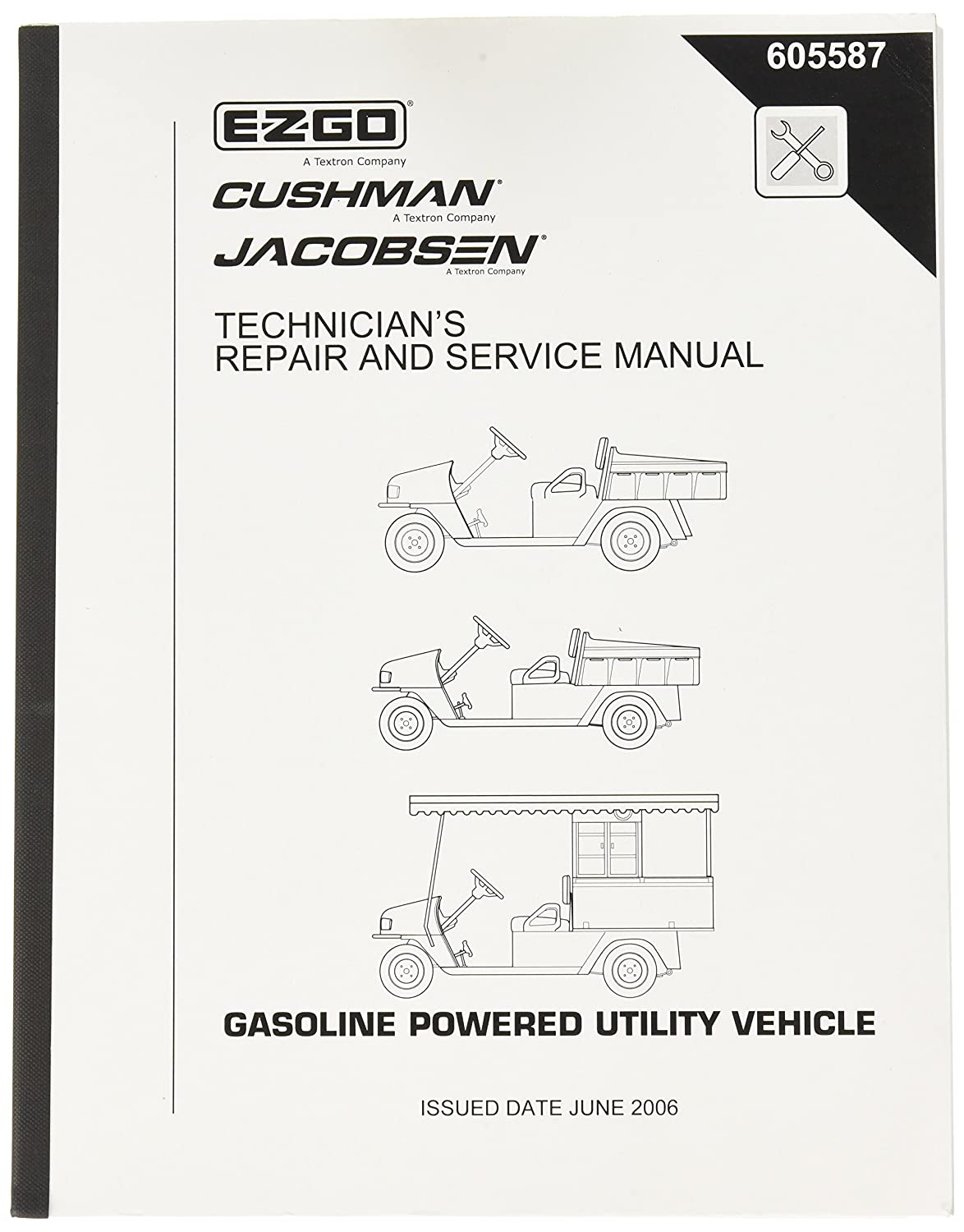 Amazon.com : EZGO 605587 2006 Current Technician's Repair Manual for MPT  800, 1200CE, CARB : Outdoor Decorative Fences : Garden & Outdoor
