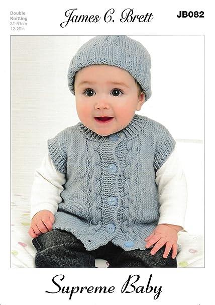 3bb7768071db James C Brett Double Knitting - JB082 Baby Cardigan