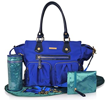 618704e4f7 Amazon.com   Luxury Diaper Bag in Stylish Blue