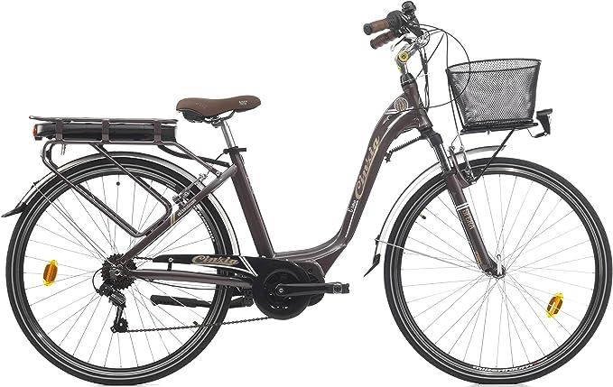Bicicleta eléctrica de 28 Pulgadas para Mujer Cinzia Sfera Motor ...