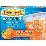 Emergen-C Immune+ 1000mg Vitamin C Powder, with Vitamin D, Zinc, Antioxidants and Electrolytes for Immunity, Immune…
