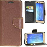 Zaoma Diary Type Flip Cover for Lava Iris Pixel V2 - Brown