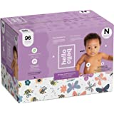 Hello Bello Club Box Diapers - Bees and Butterflies - Size N 96 count