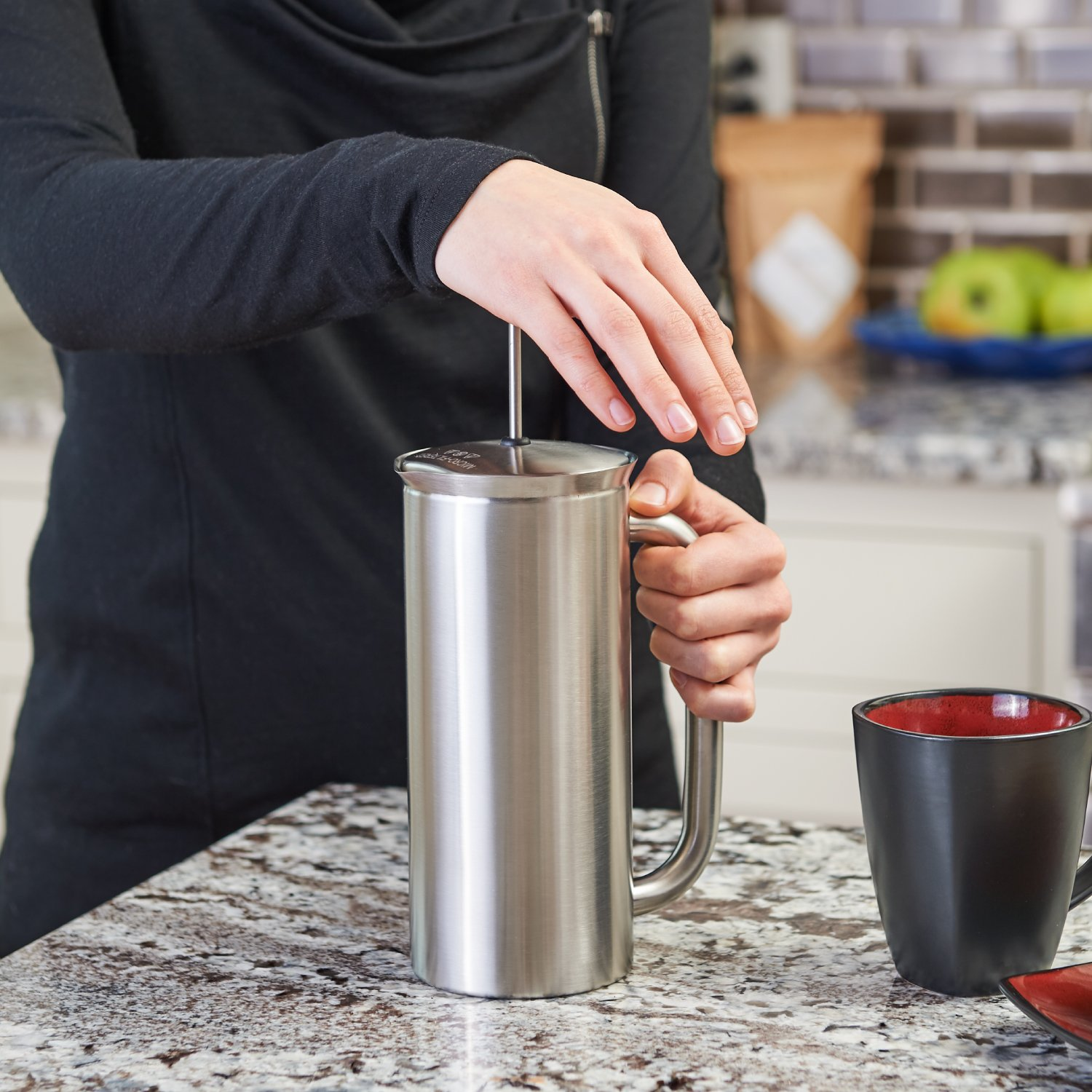 Espro 1132C2-FFP P7 Coffee French Press, 32 Ounce, Brushed Stainless Steel by Espro (Image #3)