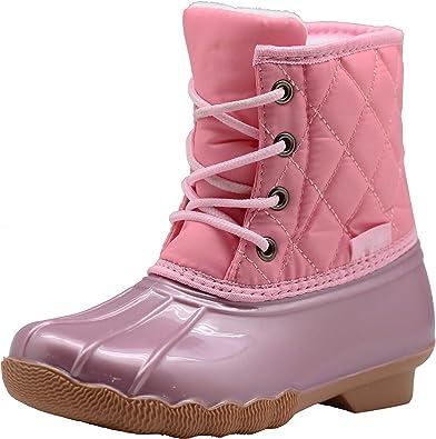 Apakowa Kids Girls Boys Duck Boots