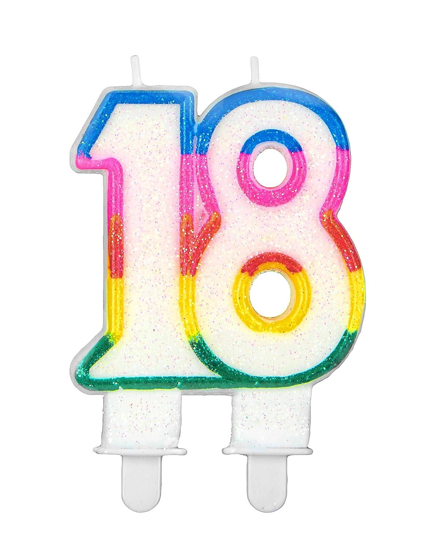 Vela de cumpleaños de dos cifras - 18 años: Amazon.es ...