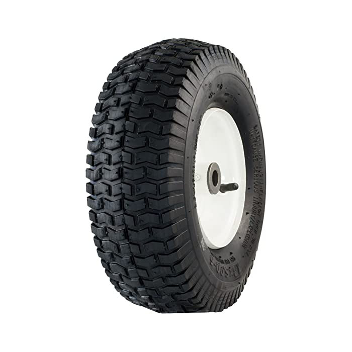 "Marathon 20336 13x5.00-6"" Pneumatic (Air Filled) Tire on Wheel, 3"" Hub, 3/4 Bushings"