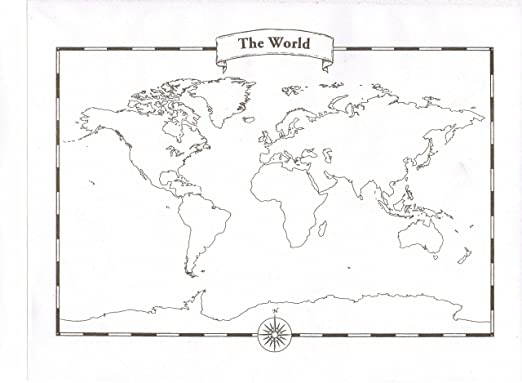 Workbook continents for kids worksheets : Amazon.com : Blank World Map Pad : Wall Maps : Office Products