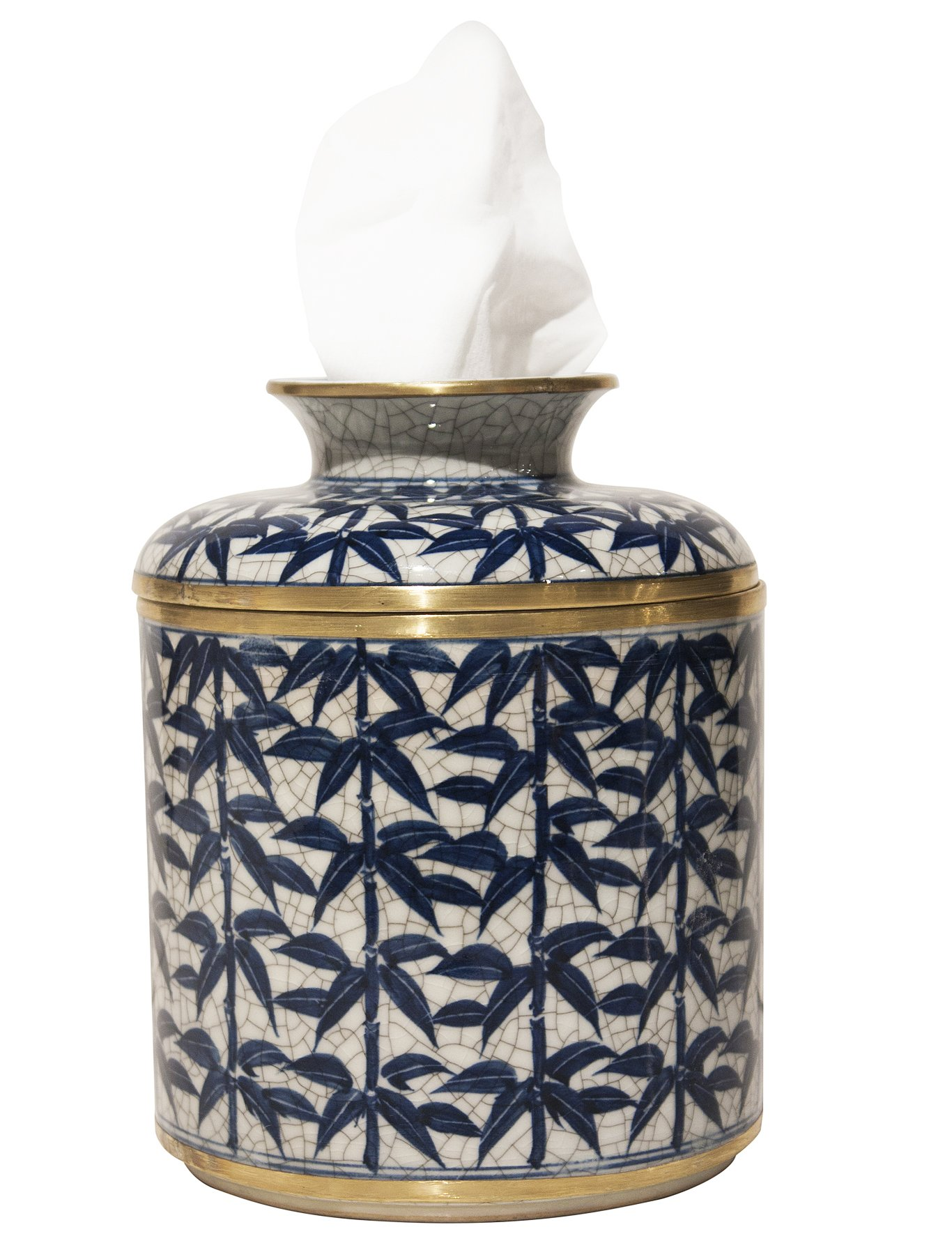 KANCHANABURI PORCELAIN TISSUE DISPENSER - TISSUE HOLDER - TISSUE COVER by KensingtonRow Home Collection