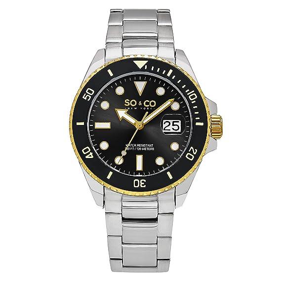 So y Co de Yates Club de Nueva York para Hombre Reloj Infantil de Cuarzo con Esfera analógica y Plateado Correa de Acero Inoxidable de 5025,3: Amazon.es: ...