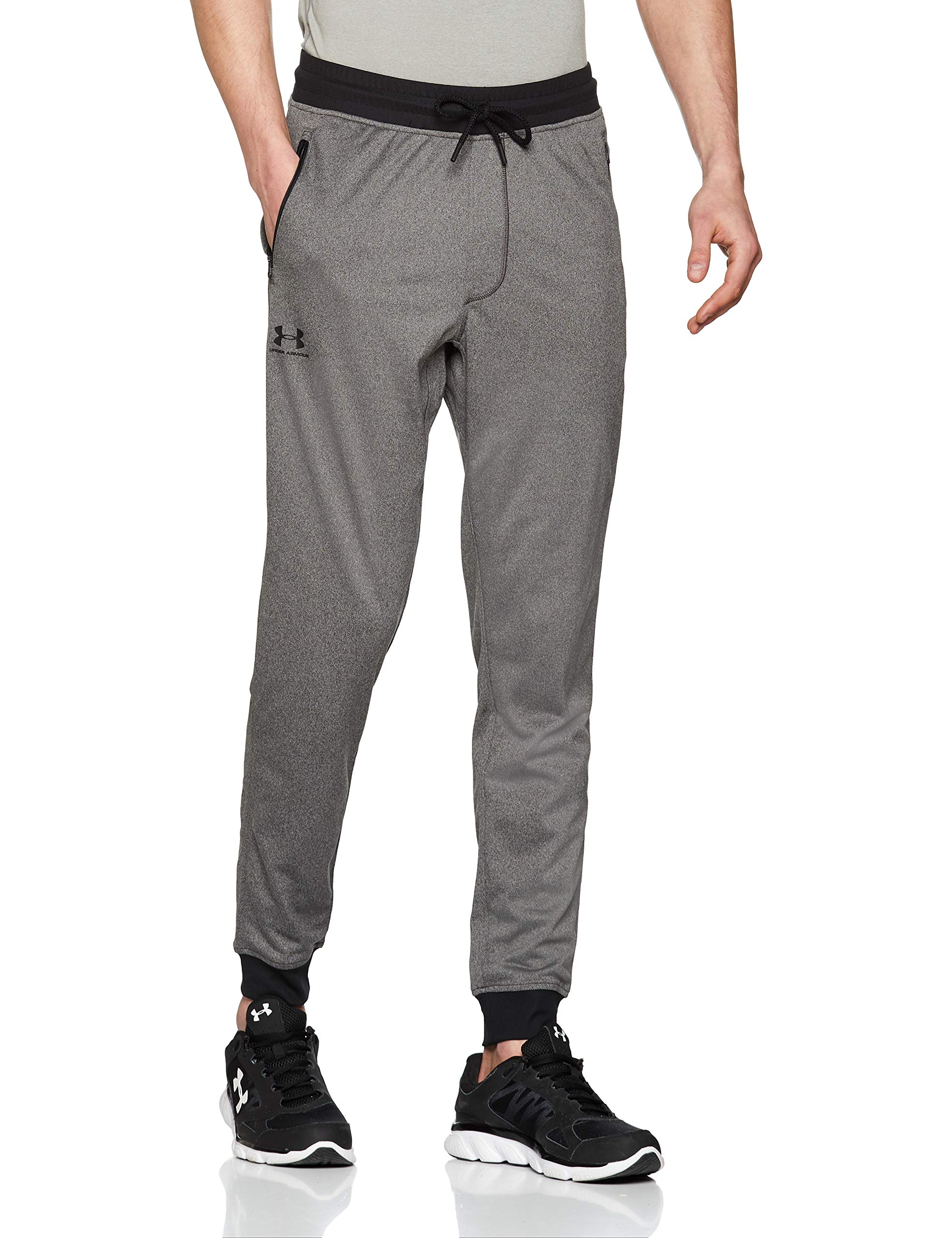 Under Armour Men's Sportstyle Jogger Pants, Carbon Heather /Black, Large by Under Armour
