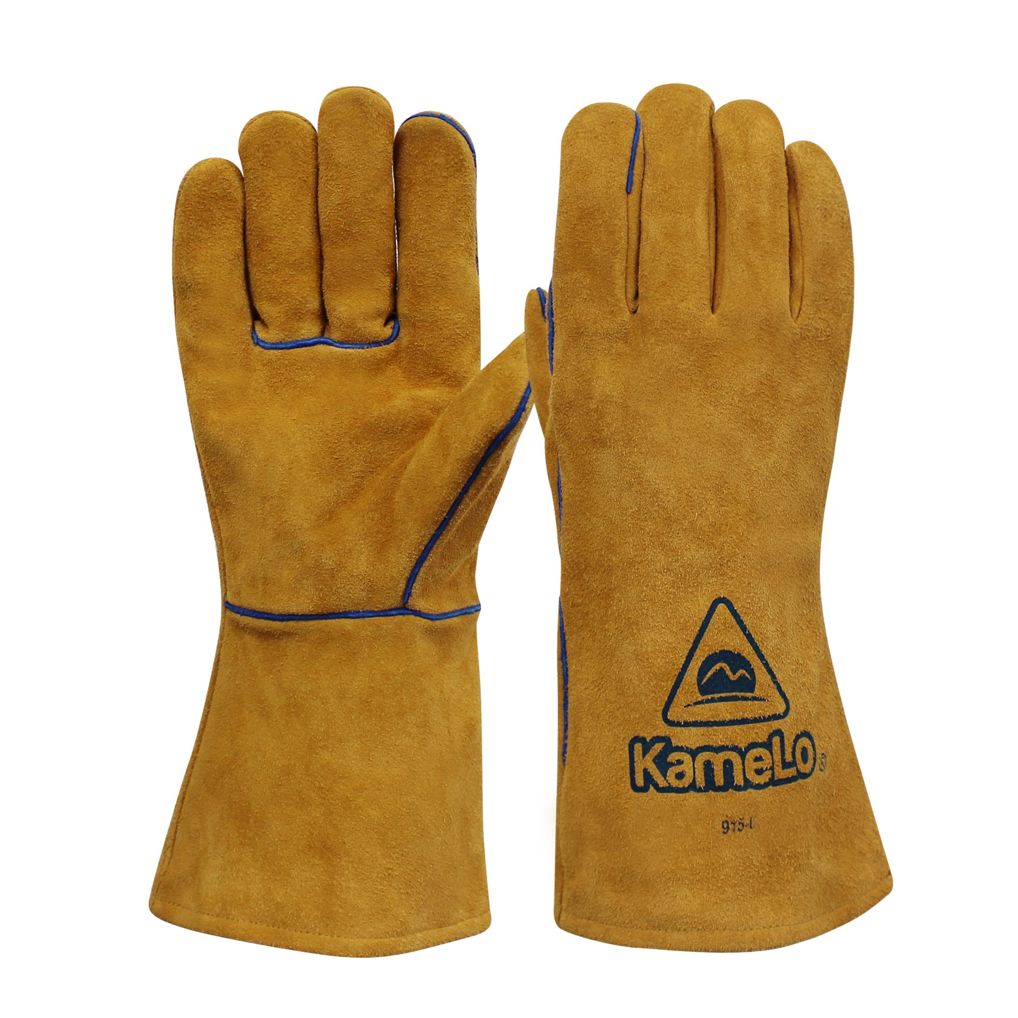 ▶10% OFF◀kameLo - Premium abrasion/flame retardant cowhide MIG Welding Gloves - suitable for BBQ grilling/fireplace/camping/work gloves (13-inch)