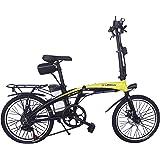 Helliot Bikes ByHelliot01 Bicicleta Eléctrica Plegable, Unisex Adulto, Amarillo/Negro, Estándar