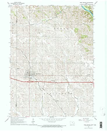 West Branch Iowa Map.Amazon Com Yellowmaps West Branch Ia Topo Map 1 24000 Scale 7 5