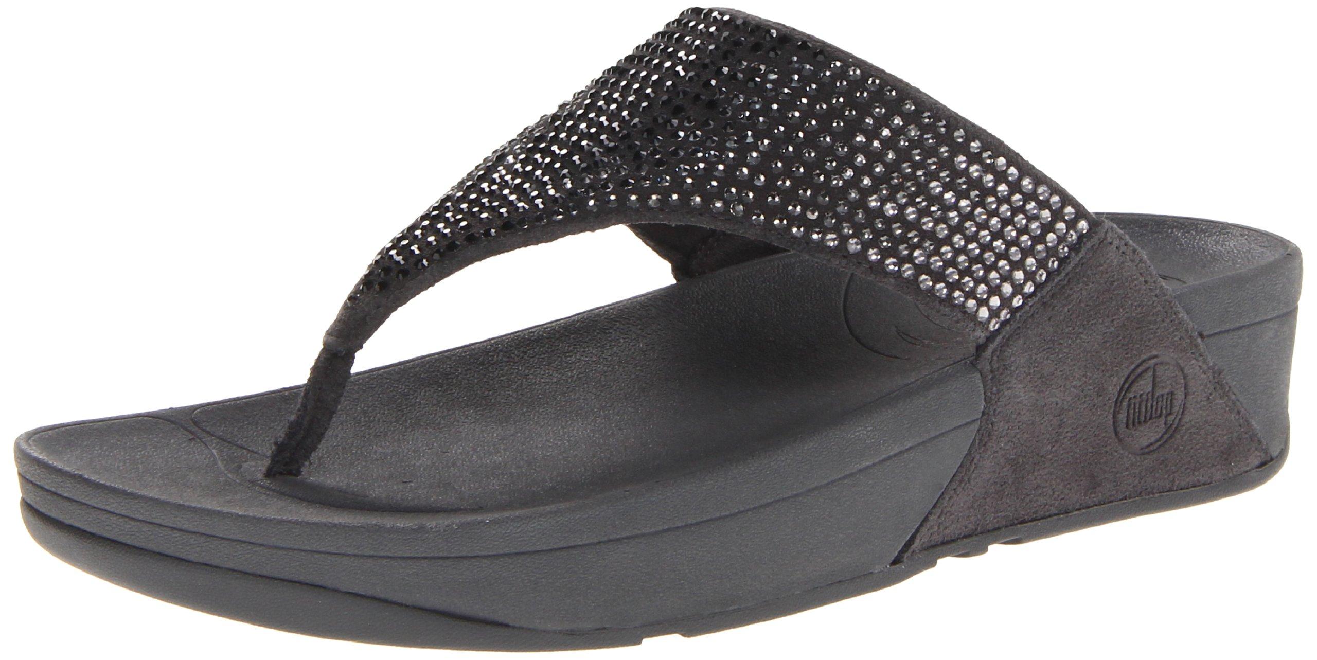 FitFlop Women's Flare Flip Flop,Cool Grey,11 M US