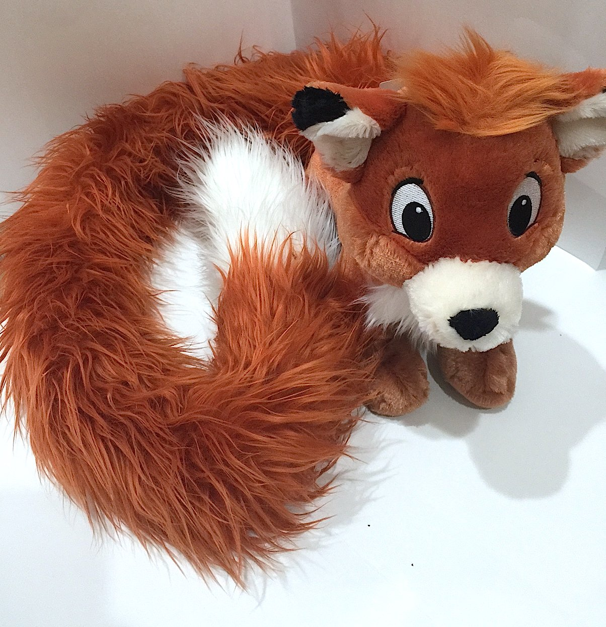 Disney Parks Fox and the Hound Long Tail Todd 12 Inch Plush Doll Boaスカーフ新しい B00UGOS110